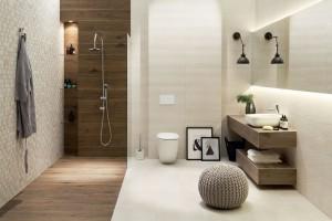 Przytulna łazienka: 12 kolekcji beżowych płytek polskich marek