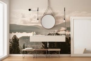 Łazienka w nowoczesnym wydaniu? Tylko ze stylową fototapetą na ścianie!
