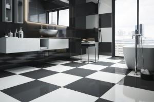 Czarno-biała łazienka: ponadczasowy patent na elegancję