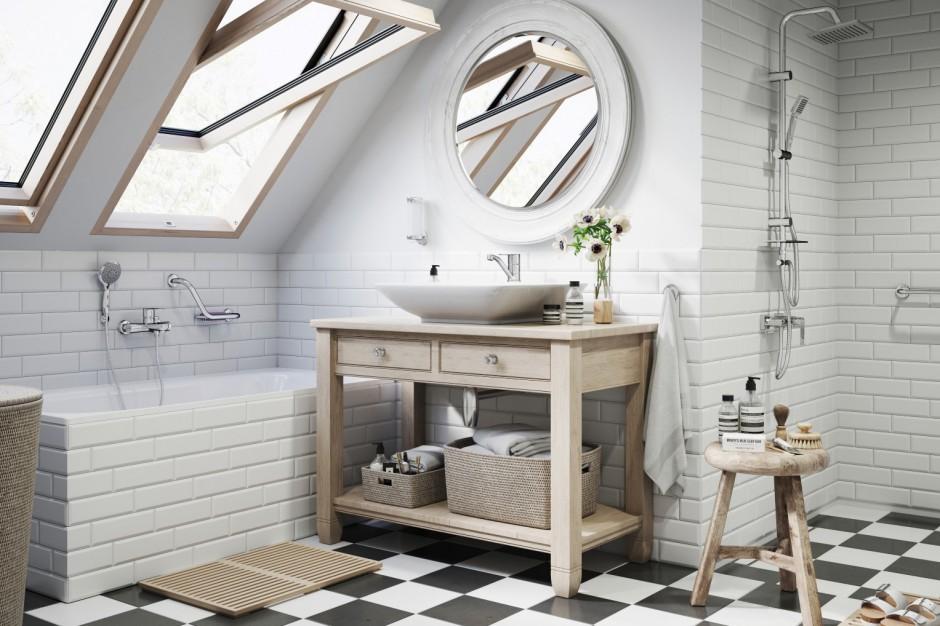 Łazienka na poddaszu: piękny projekt z kompletną armaturą