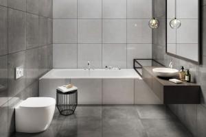 Płytki jak beton: 12 kolekcji do łazienek