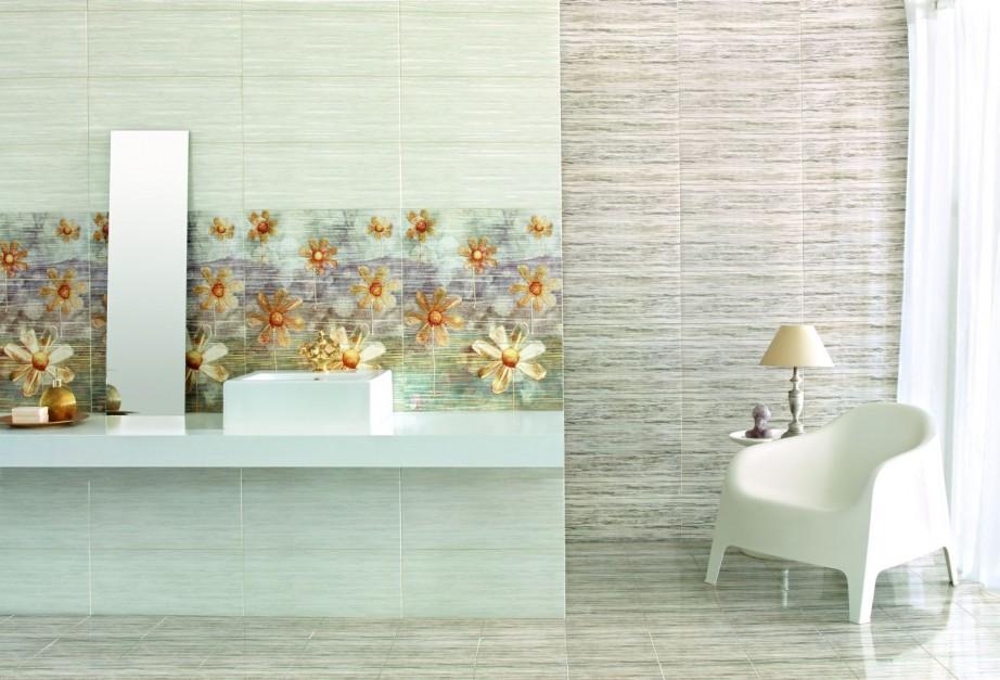 Wiosna w łazience: kwiatowe motywy na ścianach