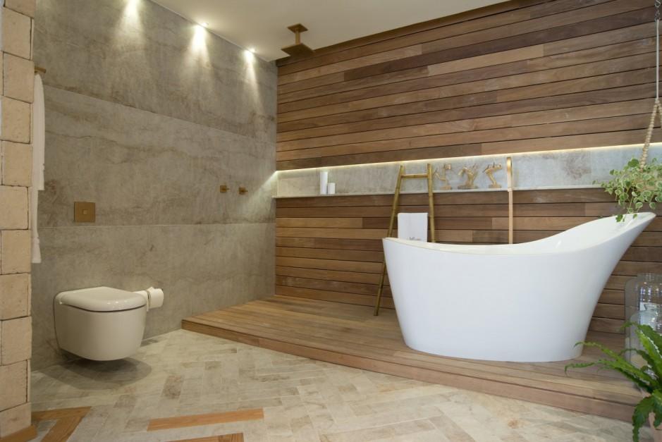 Kamień w łazience: piękny kwarcyt prosto z Brazylii