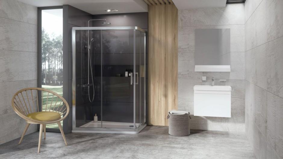 Asymetryczna kabina prysznicowa 10AP4 od firmy Ravak