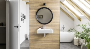 Rysunek i kolor drewna w łazience: postaw na trwałe płyty