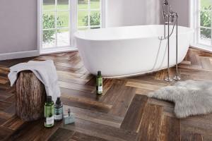 3 pomysły na kolory drewna w łazience