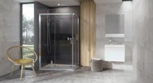 Kabina prysznicowa: asymetryczny model do małej łazienki