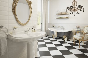 Łazienka w stylu retro: pomysł na aranżację