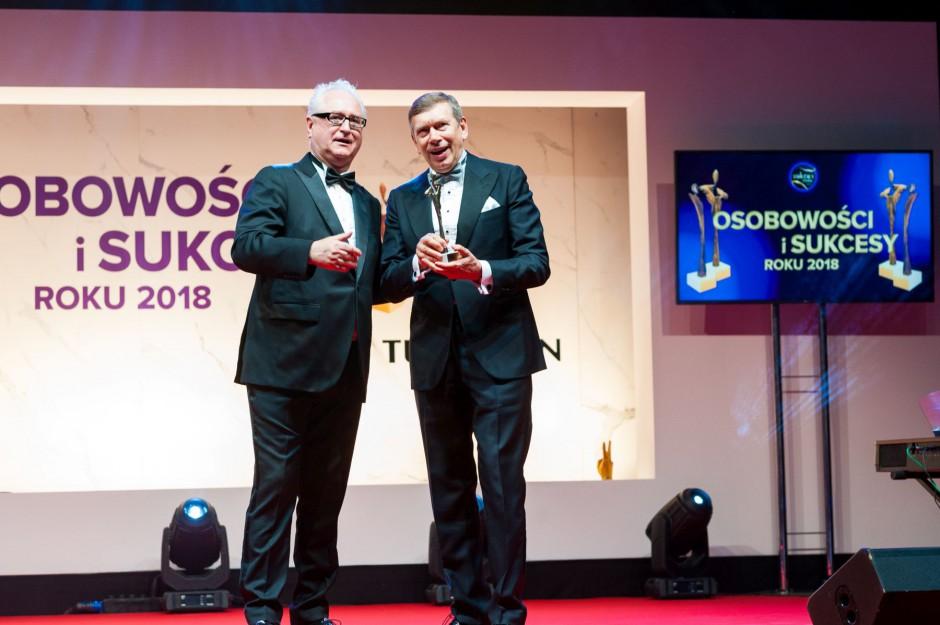 Andrzej Wodzyński z Ceramika Tubądzin odebrał statuetkę Super Sukces Roku 2018