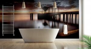 Pomysł na ścianę w łazience: wybierz fototapetę