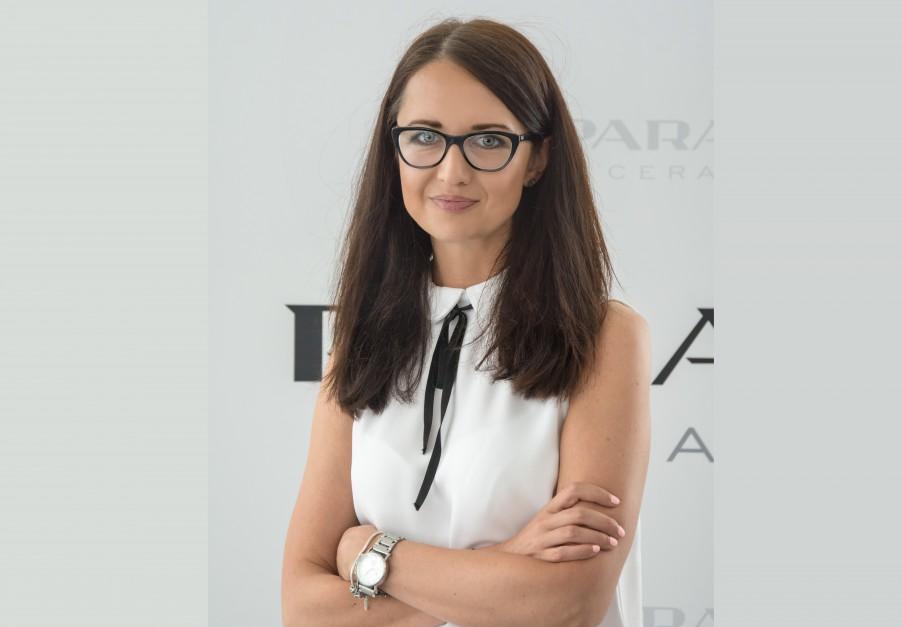 Karolina Wesołowska z Ceramiki Paradyż na Forum Branży Łazienkowej