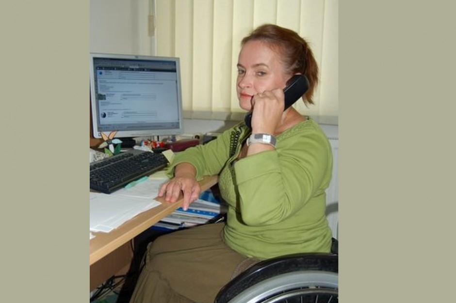 Małgorzata Radziszewska z Państwowego Funduszu Rehabilitacji Osób Niepełnosprawnych na Forum Branży Łazienkowej