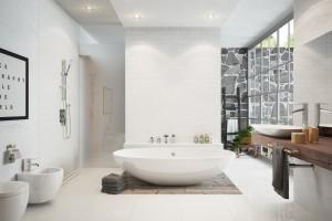 Armatura w nowoczesnej łazience: postaw na baterię nablatową
