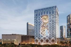 Lustra Miior w luksusowym hotelu Morpheus projektu Zaha Hadid Architects