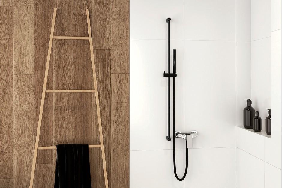 Nowoczesna armatura łazienkowa: zestaw prysznicowy z karbonu