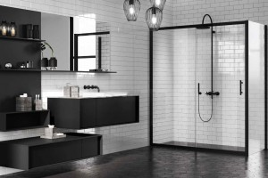 Trzy świetne pomysły na czerń w strefie prysznica