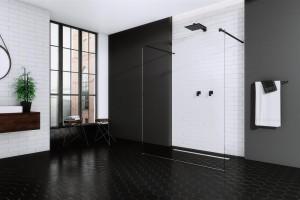 Czarno-biała łazienka: zobacz kabiny idealne do takiego wnętrza