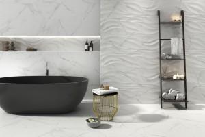 Płytki 3D: 14 strukturalnych kolekcji do łazienek