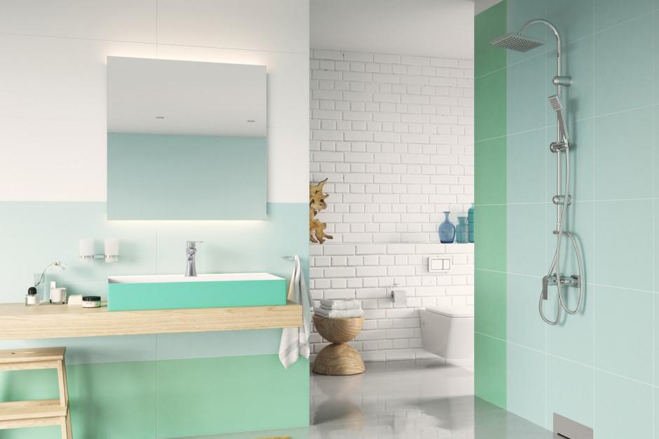 Wiosna w łazience: kolorowe wnętrze z funkcjonalną armaturą