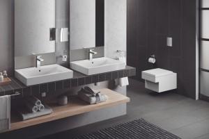 Minimalistyczna łazienkowa kolekcja Cube Ceramic od Grohe