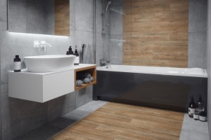Łazienka w kolorach ziemi: wybierz płytki w stonowanych barwach