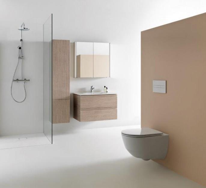 Nowoczesna strefa prysznica: płaskie brodziki z nowego materiału