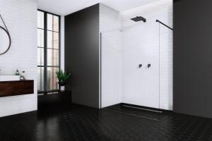 Kabiny prysznicowe: 3 modele z czarnymi profilami
