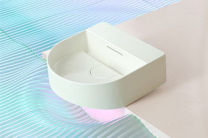 Zobacz kolekcję Sonar marki Laufen zaprojektowaną przez Patricie Urquiole