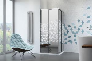 Kabiny prysznicowe: 4 modele z dekorem na szkle