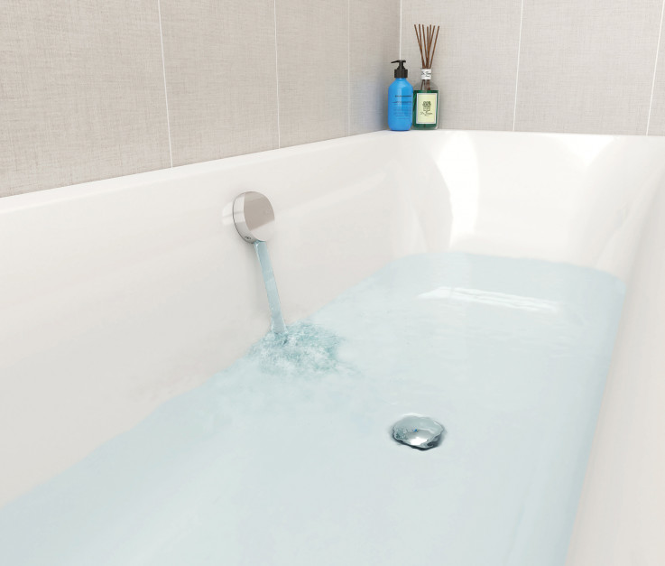Nowoczesna łazienka: korek zamiast baterii wannowej