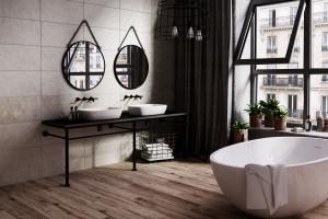 Szara łazienka: 15 kolekcji płytek