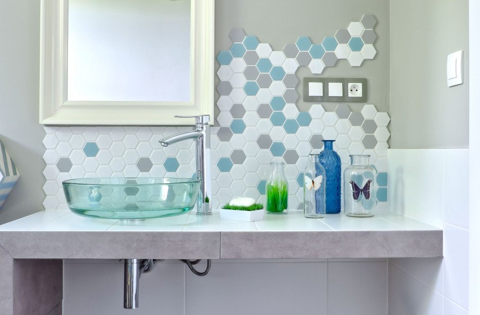 3 sposoby na heksagony w łazience