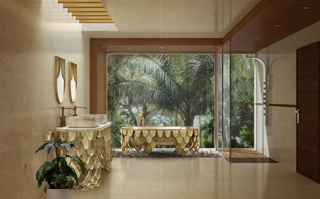 Ten nowy trend w łazience zainspirowany jest japońską koncepcją Zen. Tradycyjne japońskie łazienki to pogodna, malownicza podróż w głąb mglistego lasu tropikalnego. Fot. Maison Valentina