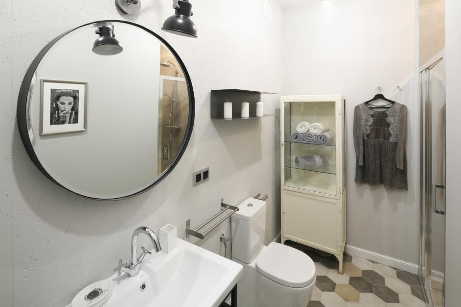 Okrągłe lustro w łazience: pakiet 10 zdjęć