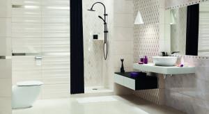 Jasna łazienka z geometrycznymi motywami: nowa kolekcja płytek