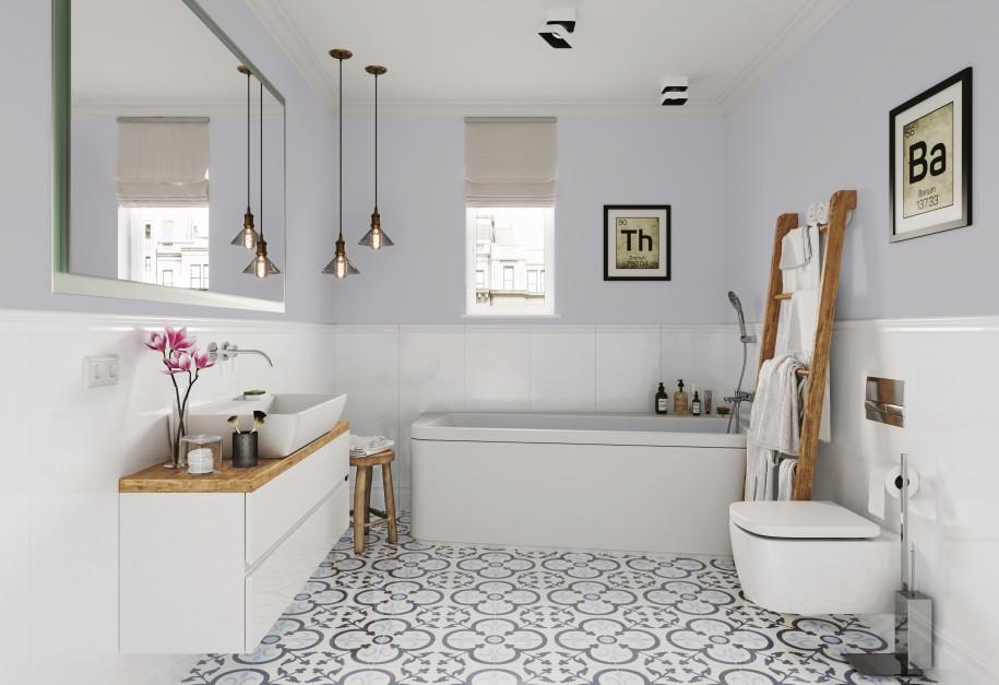 Aranżujemy ściana W łazience Co Zamiast Płytek łazienkapl