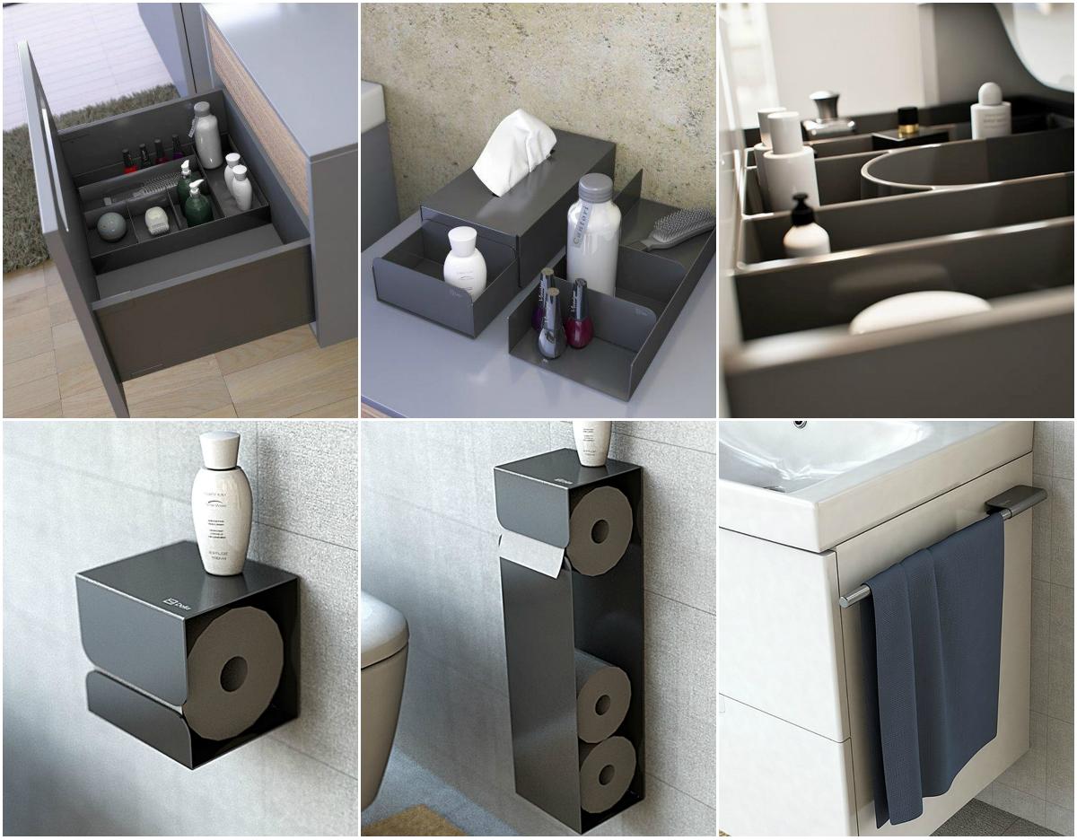 Dodatkowymi elementami, które zwiększą komfort użytkowania mebli z kolekcji NODO są eleganckie i praktyczne metalowe akcesoria łazienkowe. Fot. Defra