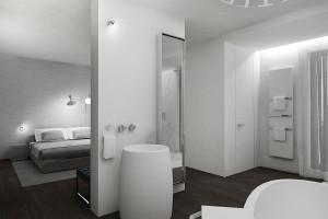 Łazienka przy sypialni: projekt eleganckiego salonu kąpielowego