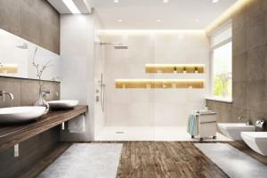Łazienka w kolorach ziemi: pamiętaj o doborze fug
