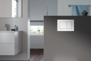 Higiena w łazience: przyciski spłukujące z jonami srebra