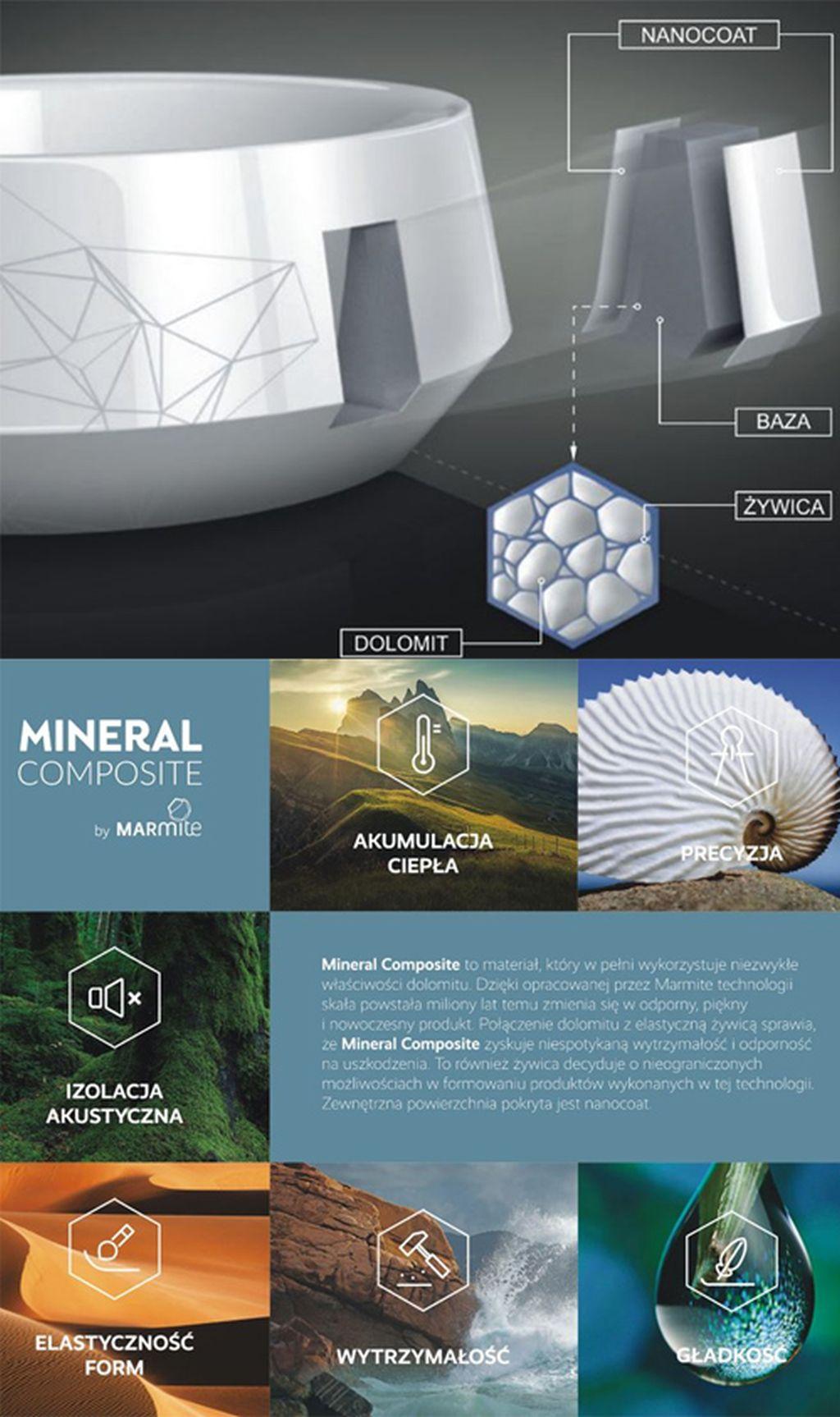 Jury wyróżniło także materiał Mineral Composite marki Marmite, wskazując na doskonałe możliwości konstruowania cienkościennych form ceramiki użytkowej. Fot. Marmite