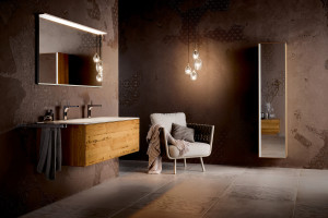 Meble w kolorze drewna: 5 kolekcji do łazienek
