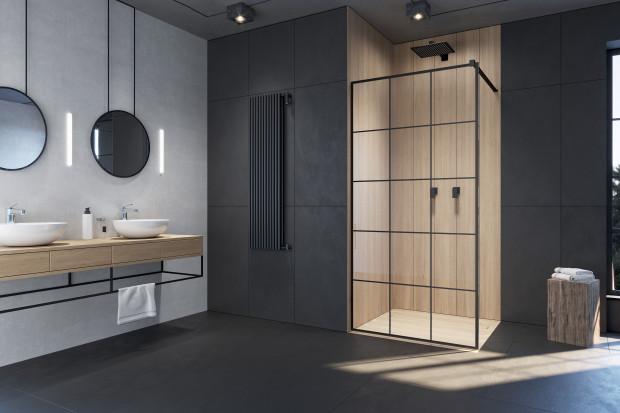 Czerń w łazience: nowe modele kabin prysznicowych