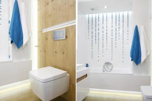 Biała łazienka ocieplona drewnem: 10 projektów z polskich domów