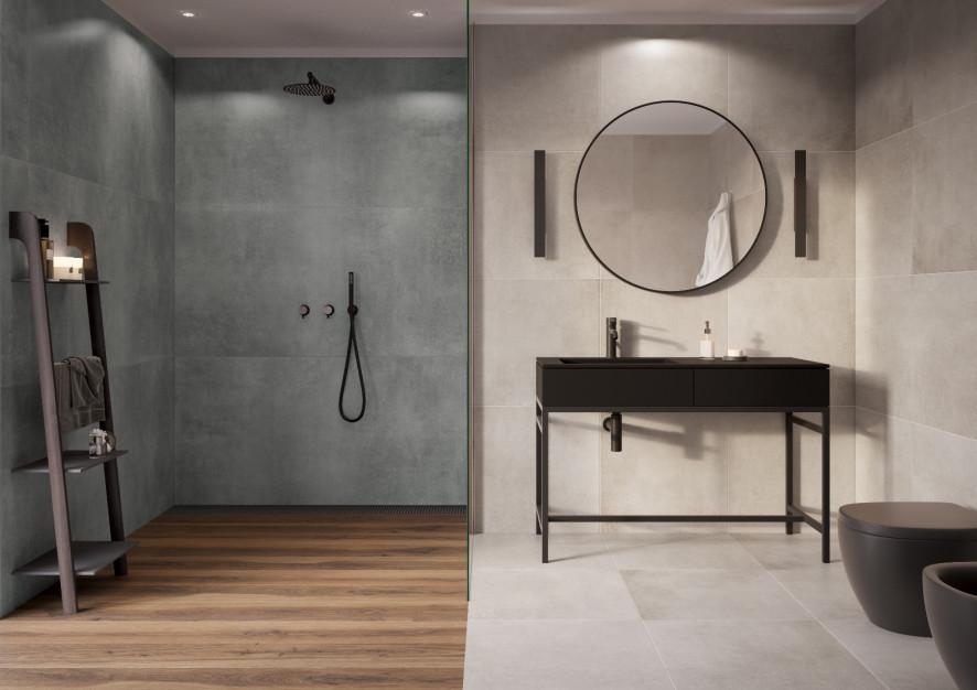Trendy łazienkowe: nowe wielkoformatowe płyty gresowe