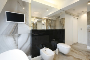 Rysunek kamienia w łazience: 4 projekty z polskich domów