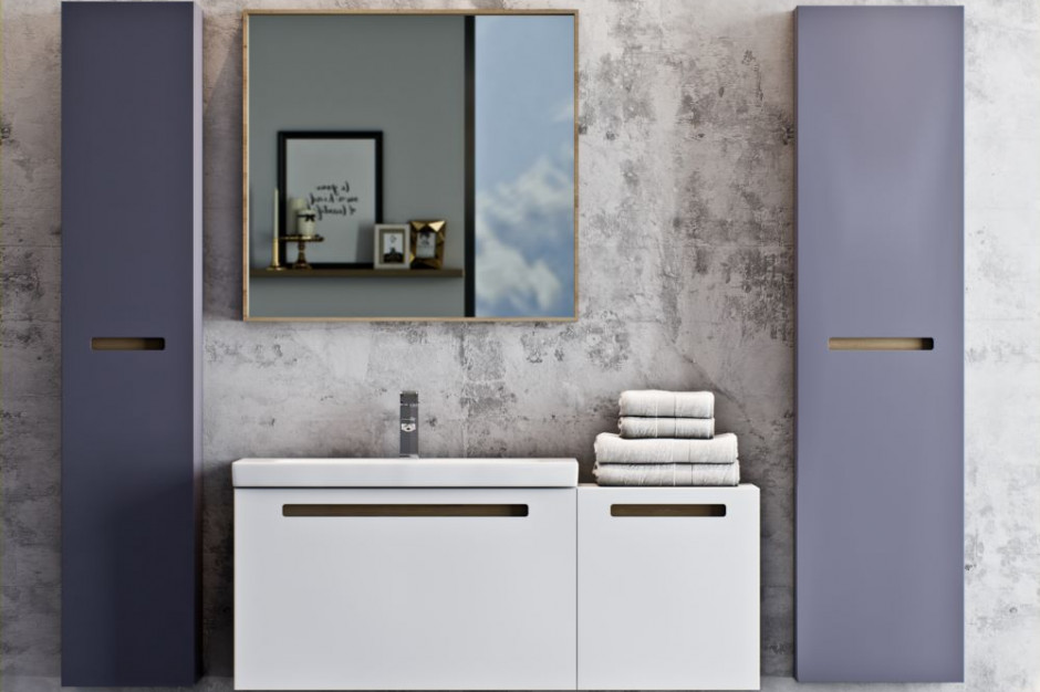 Meble łazienkowe: 5 kolekcji z szarymi frontami