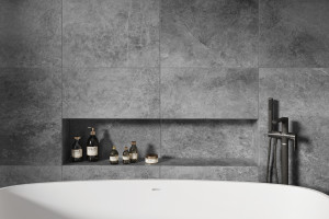 Aranżacja łazienki: postaw na płytki jak kamień!