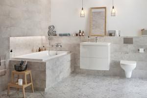 Szare płytki: 10 modnych kolekcji do łazienek