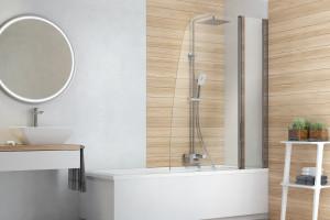 Mała łazienka: postaw na parawan nawannowy